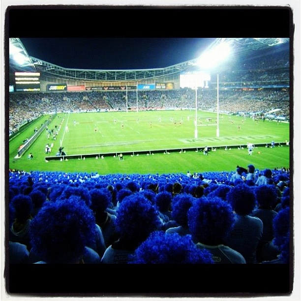 part of blatchy's blues army at state of origin. nsw blues are my team for life!