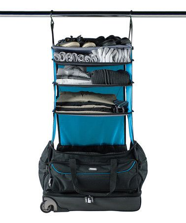 Loving this Black & Blue Roller Duffel Bag on #zulily! #zulilyfinds