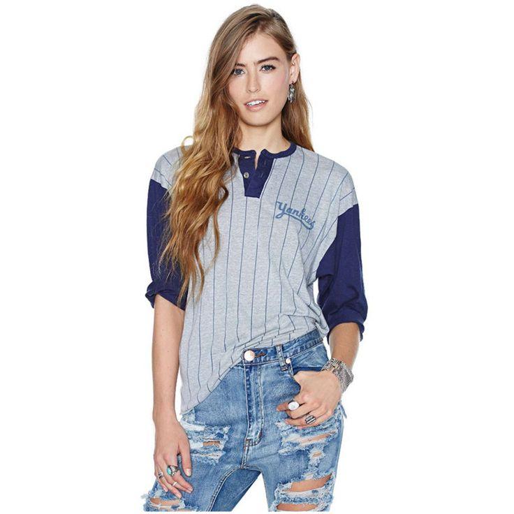 Американский бейсбол стиль 2016 свободного покроя Tshirt панк топ футболка рубашки марка Большой размер женской одежды Blusas Femininas
