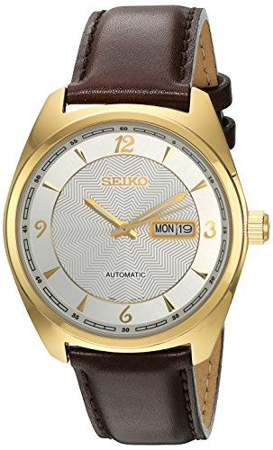 Seiko Men's 'Recraft Series' Japanese Automatic Brown Leather Dress Watch (Model: SNKN70) #Seiko Watches