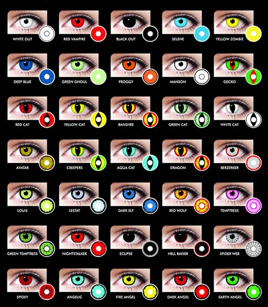 Cool contact lenses for halloween