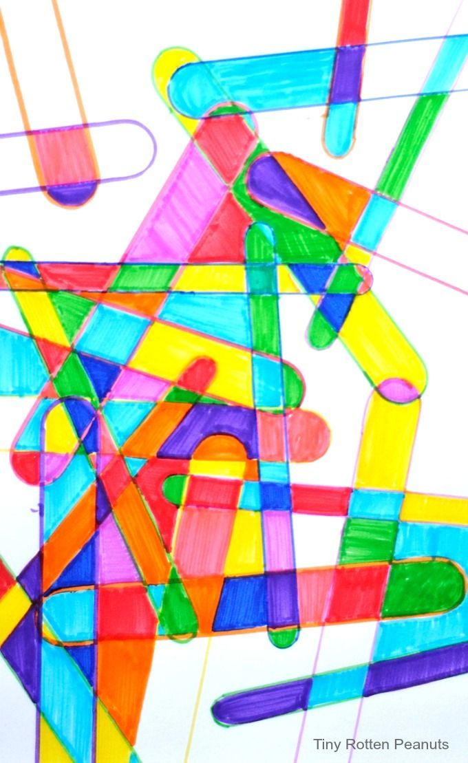 popsicle sticks art project - a good fast finishers collaborative project. from Tiny Rotten Peanuts