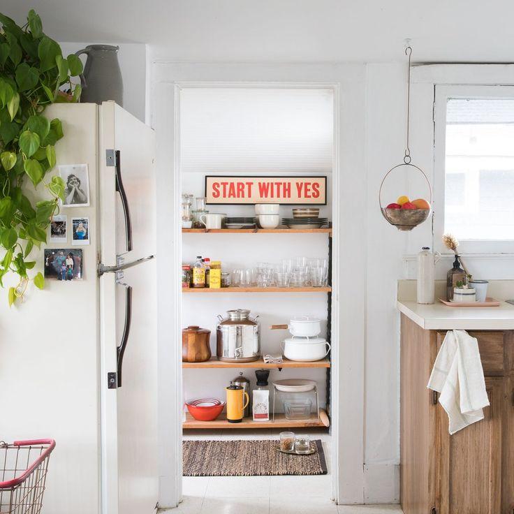 Orange Kitchen Decor: Start With Yes Print - Orange