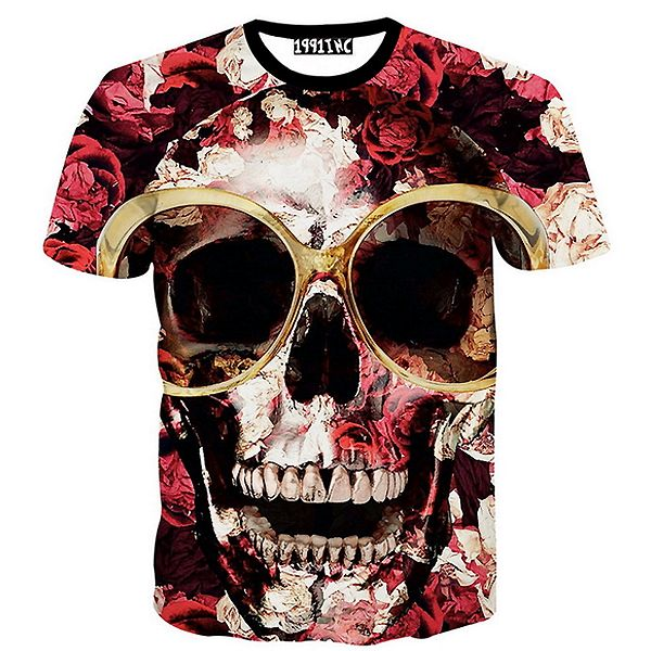 Check the Love Lost Tee,  a graphic printed top with a dark skull and roses t shirt design as part of our mens clothing collection. Free shipping worldwide!