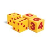 Learning Resources Giant Soft Cubes Dot, Numeral and Operations Sets