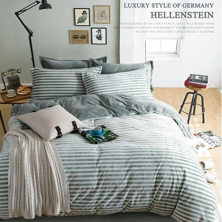 Nice Fashion Grid Stripe Bedding Set Fashion Crystal Velvet Bed Sheets Duvet  Cover Bed Sheet Pillowcase, Home Design Ideas
