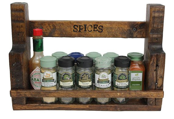 Spice Rack Rustic Spice Rack Reclaimed Wood by AbandonedTimber, $29.99
