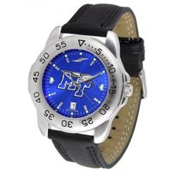 Middle Tennessee State MTSU Men's Leather Band Sports Watch