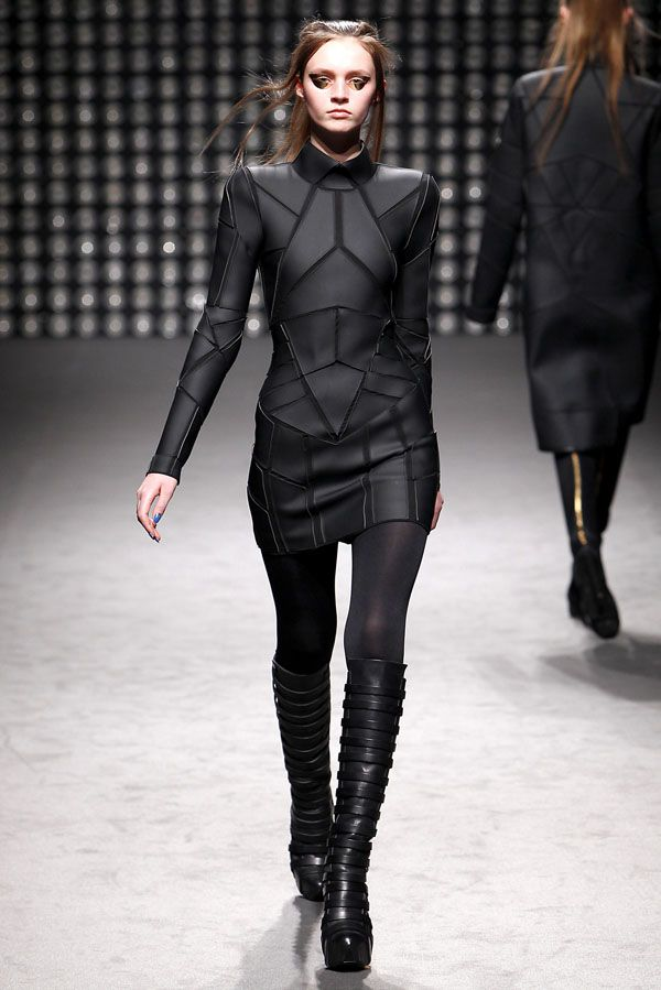 Gareth Pugh - I was very sorry to hear that the build quality of this range of polygonal clothing (includes a jacket in the same style) left something to be desired.  An excellent inspiration, however.