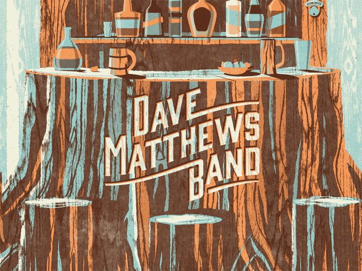 See full image here    Alpine Valley in East Troy, Wisconsin is a magical setting, so we were excited to create a poster for Dave Matthews Band's performance at the picturesque venue.  We were inspir...