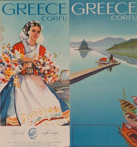 Corfu Original Travel Brochure