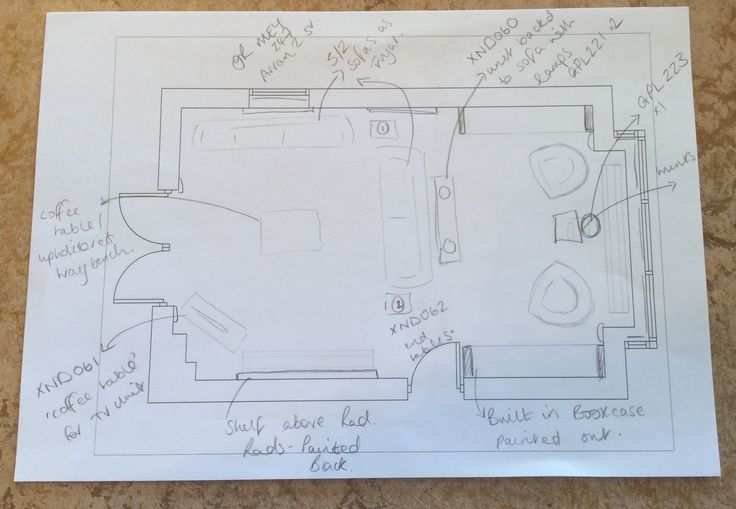 Suggested floor plan for lounge.