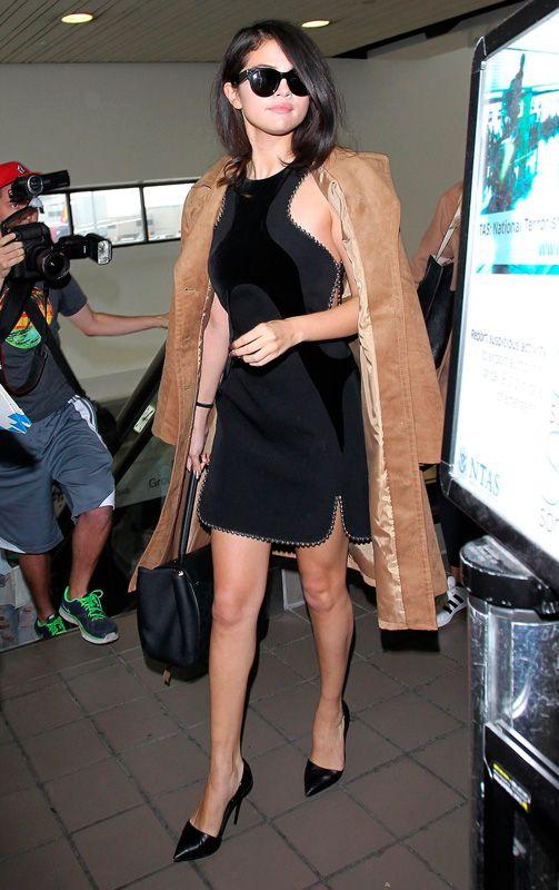 Selena Gomez no aeroporto