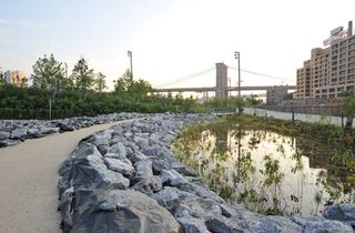 Some city parks—Central and Prospect, most obviously—were built to replicate rustic fields and preserve serene woodland. Brooklyn Bridge Park, however, was not—and that's precisely why it has become so popular in the five years since it debuted. The project has transformed a chunk of the Brooklyn waterfront into an 85-acre expanse; several sections house unique attractions such as Jane's Carousel, a restored 1920s merry-go-round, and riverside esplanades with gorgeous Manhattan views. Its…