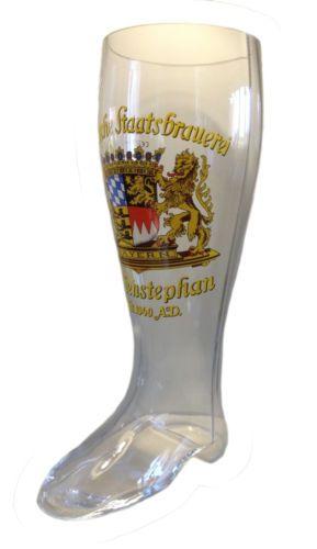 Weihenstephan-2-liter-german-beer-glass-boot-DAS-BOOT-NEW