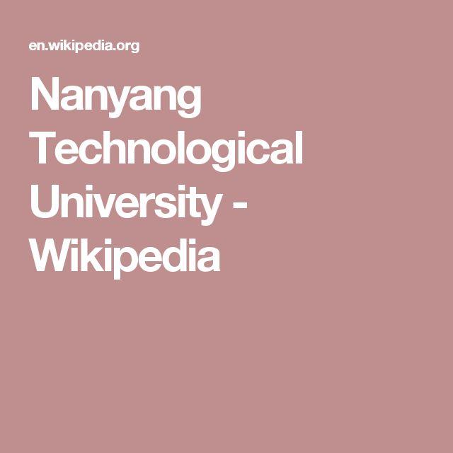 Nanyang Technological University - Wikipedia