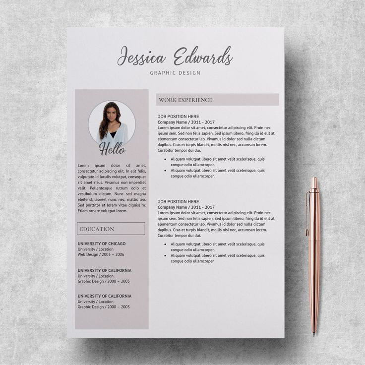 Modern Resume Template Resume Template with