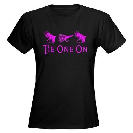 GIRL FLY FISHING Women's Dark T-Shirt