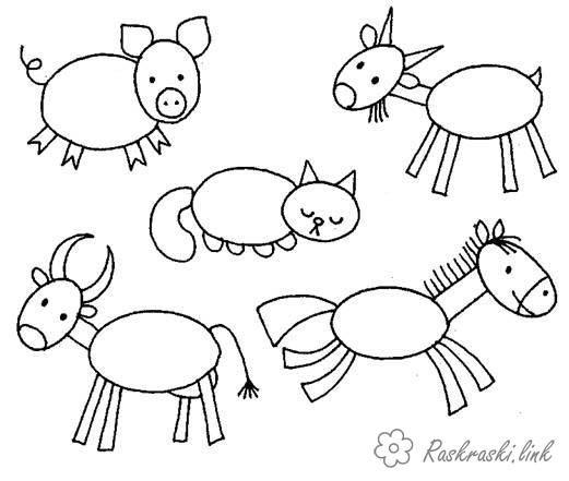 картинки по запросу животные из геометрических фигур рисунки