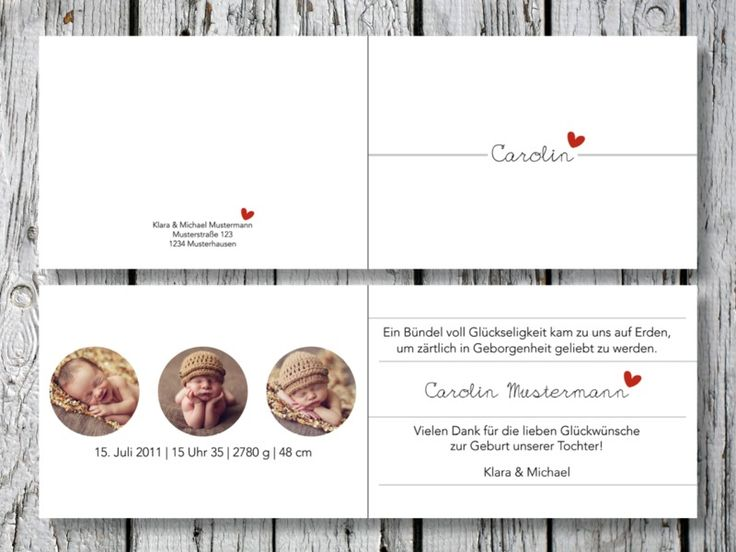 Individuelle (Klapp)Geburtskarte | Carolin von for magic moments auf DaWanda.com