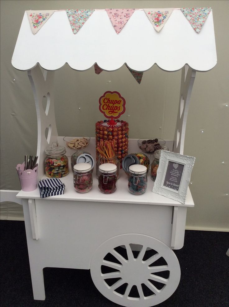 Candy sweet cart hire  Just £50 for cart and empty glassware plus sweet bags and utensils. Sweets are provided by us ( extra fee) or client buys their own.