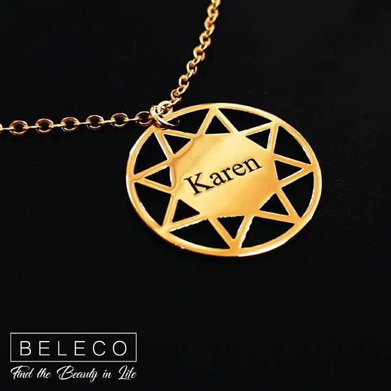 295 best name necklace images on pinterest jewelry necklaces personalized star necklace customize star necklace jewelry necklace etsymktgtool http aloadofball Image collections
