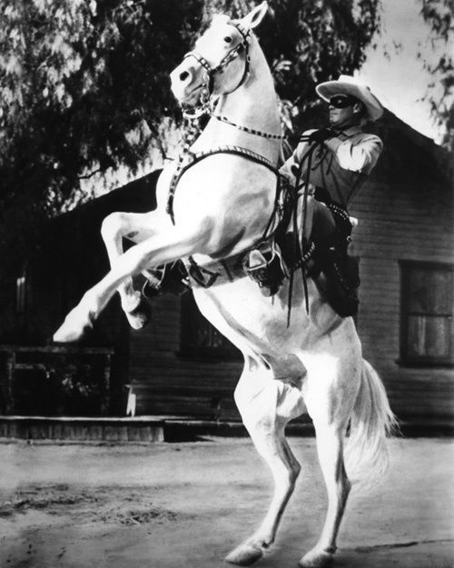 THE LONE RANGER (Clayton Moore) & Silver