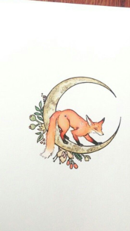 Fox Crescent Moon Tattoo …