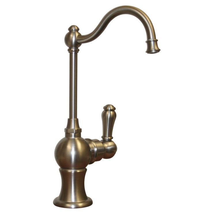 Point of use rustic drinking water faucet with traditional spout