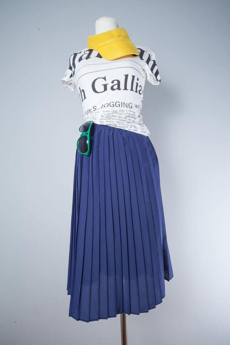 Iconic John Galliano Newspaper Print Women's T-Shirt. by MiauhausLook on Etsy