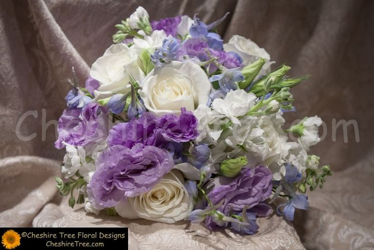!connors-02-wedding-flowers-bridesmaid-bouquet-hand-tied-lavender-blue-white-lisianthus-roses-delphinium