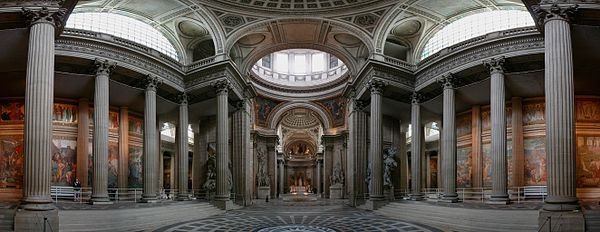 Panthéon, Paris - inside panoramic view [from Wikipedia]