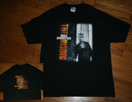 Vintage 2002 Bruce Springsteen THE RISING Concert Tour T-Shirt tee-Mens XL-GREAT