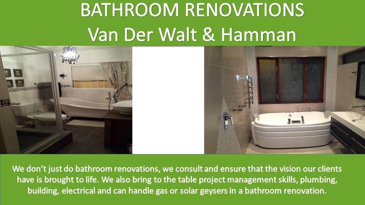 Pin by Watertight Plumbing cc on VanderWalt/Hammon project ...