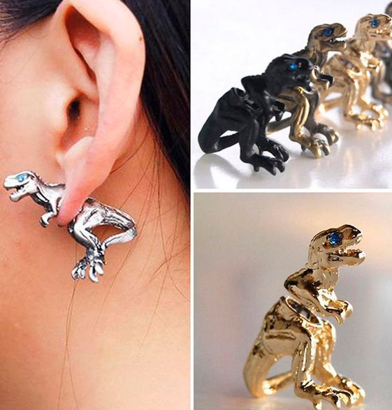 These dinosaur ear studs are BEYOND epic... Which color is your favorite? Limited quantity available! See all of them here >> https://www.steampunkempirestore.com/products/pair-of-epic-dinosaur-ear-studs
