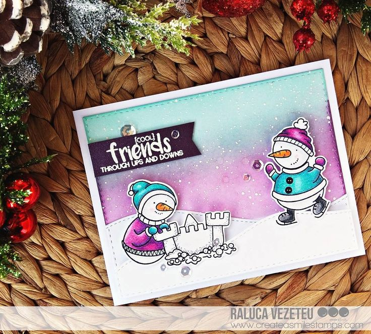 412 best Cards - Christmas CAS coloring images on Pinterest ...