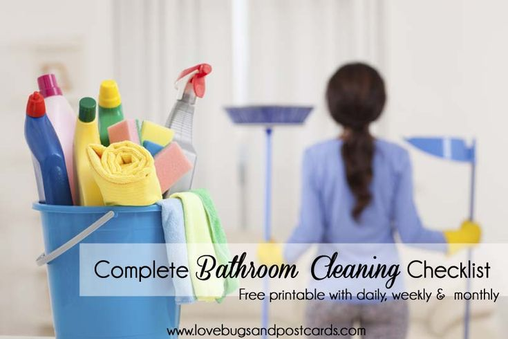 Best 25 cleaning checklist printable ideas on pinterest for Bathroom cleaning companies