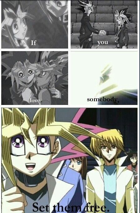 If you love somebody set them free Yugioh pharoah Atem, yugi || everytime i saw pics about this last scene, i cant help myself not to wanna cry :'( - Lv.