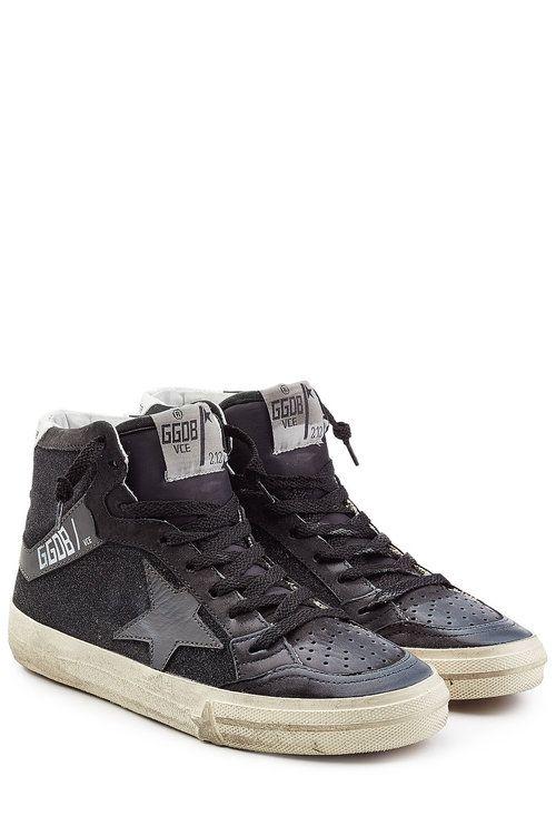 Oie D'or De Luxe Marque Francy Haut Top Sneakers - Rouge jXezd