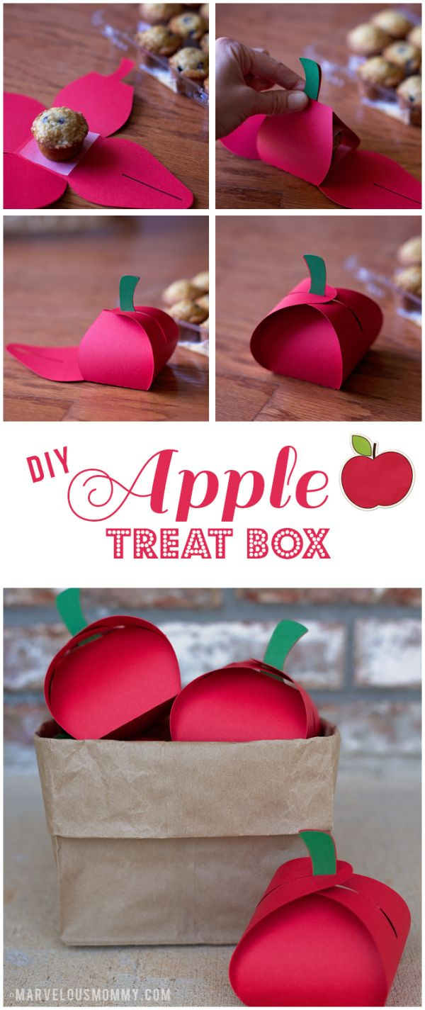 Apple Treat Box DIY                                                                                                                                                                                 More
