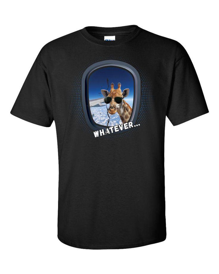 Funny Giraffe T-Shirt Plane Window Humor Animal Quote Meme New 9GAG SWAG Gift #Gildan #GraphicTee