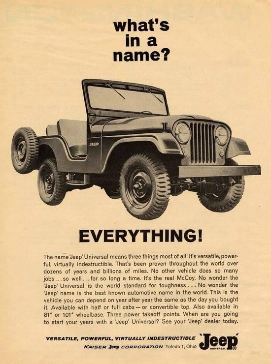 What's in a name?... Everything! via @geotruckr #jeep