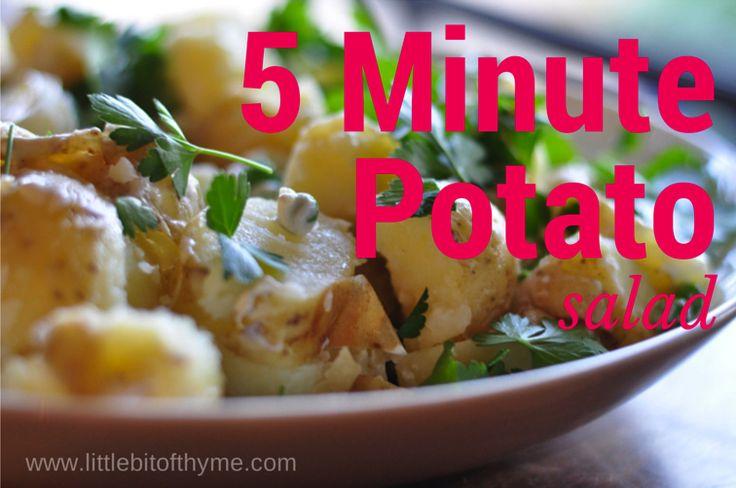 5 Minute Potato Salad