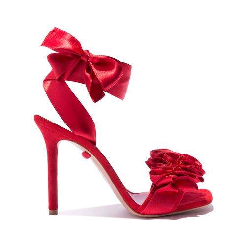 Heels, Shoes, Red sandals