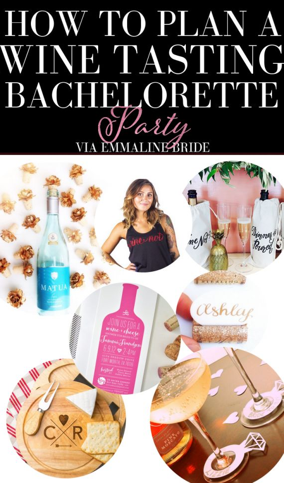 How to Plan a Wine Tasting Bachelorette Party | http://emmalinebride.com/planning/wine-bachelorette-party/