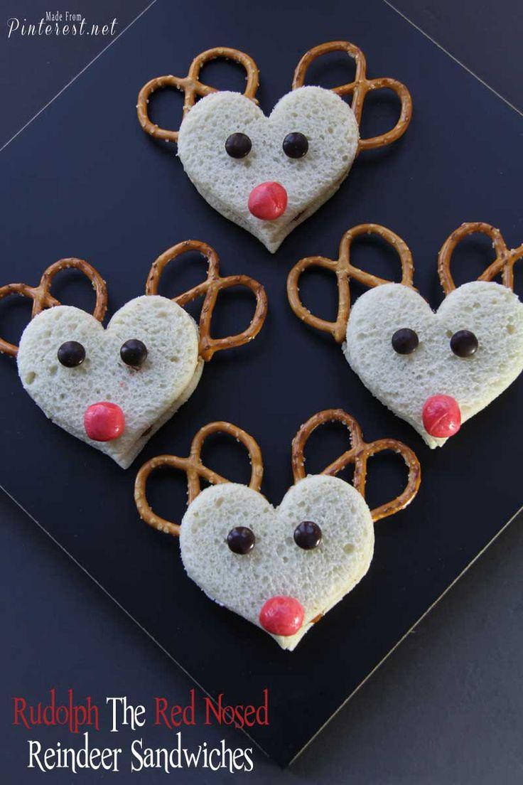 cute reindeer sandwiches