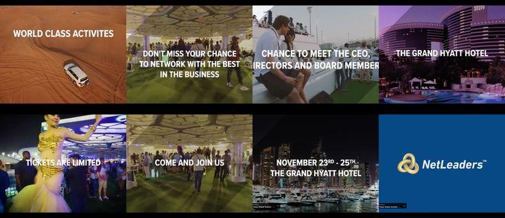 NetLeaders Global Leadership Summit - Dubai November 2017 #NLDubai17  NetLeaders returns to Dubai for our anniversary Global Leadership Summit. Second time around, twice as big!