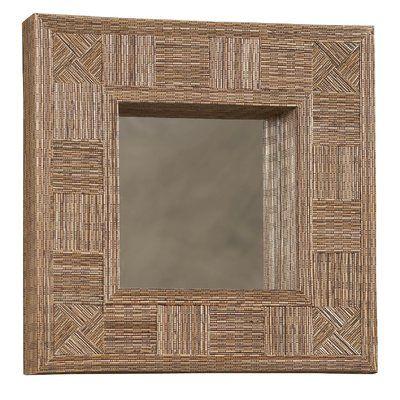 World Menagerie Brown Mosaic Coco Stick Square Mirror