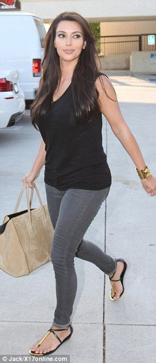 LOVE this outfit - very wearable/to my taste #KimKardashian