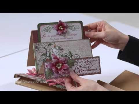 Flip Fold Album - Video 3: Flip Fold Album and Inserts Deco Dies and Cards - Heartfelt Creations